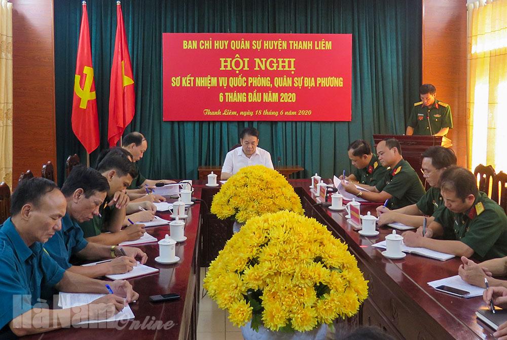Ban CHQS huyện Thanh Liêm sơ kết thực hiện nhiệm vụ QSQPĐP