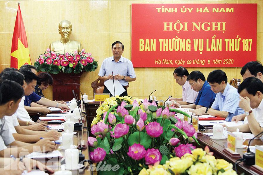 Ban Thường vụ Tỉnh ủy cho ý kiến về Đại hội đại biểu Đảng bộ huyện Thanh Liêm và thành phố Phủ Lý nhiệm kỳ 2020  2025