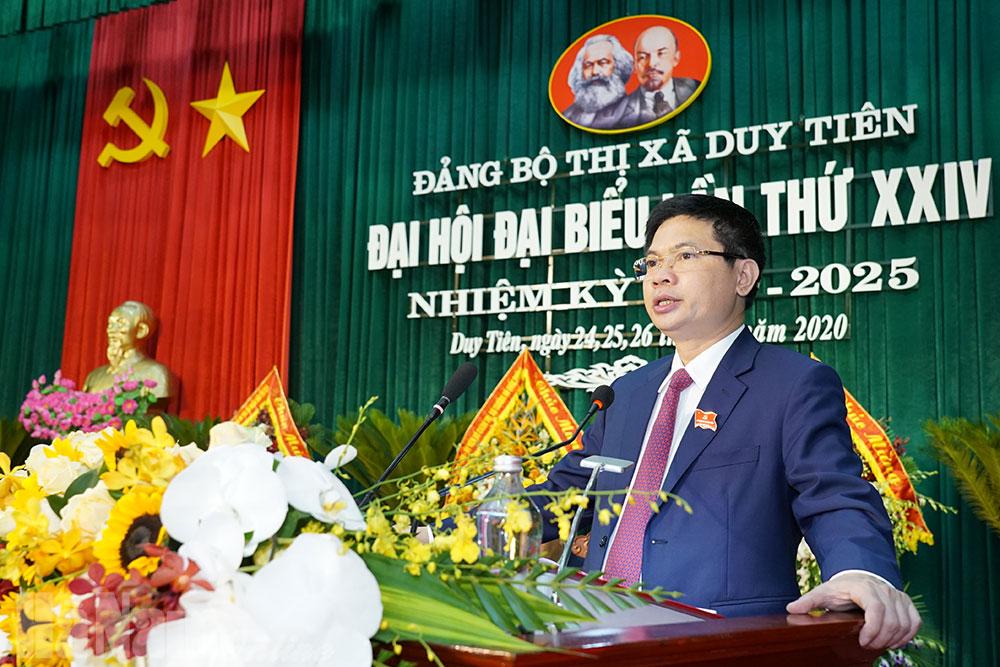 Bế mạc Đại hội đại biểu Đảng bộ thị xã Duy Tiên nhiệm kỳ 20202025