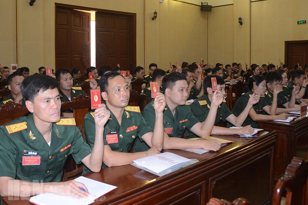 Đại hội đại biểu Đảng bộ Quân sự tỉnh lần thứ XVI thành công tốt đẹp