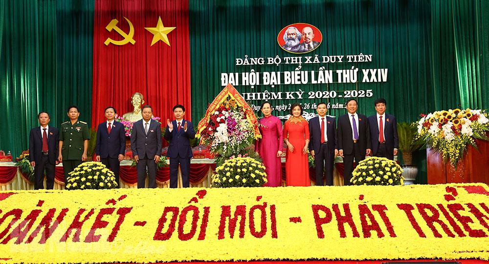 Đảng bộ thị xã Duy Tiên long trọng tổ chức đại hội nhiệm kỳ 2020 - 2025