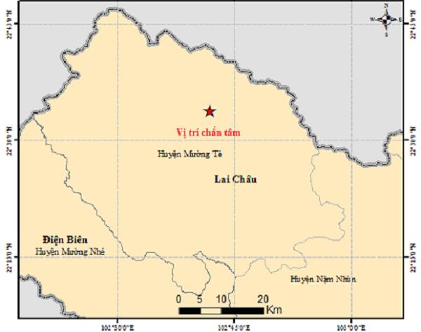 Động đất lại xảy ra tại Mường Tè tỉnh Lai Châu vào sáng 296