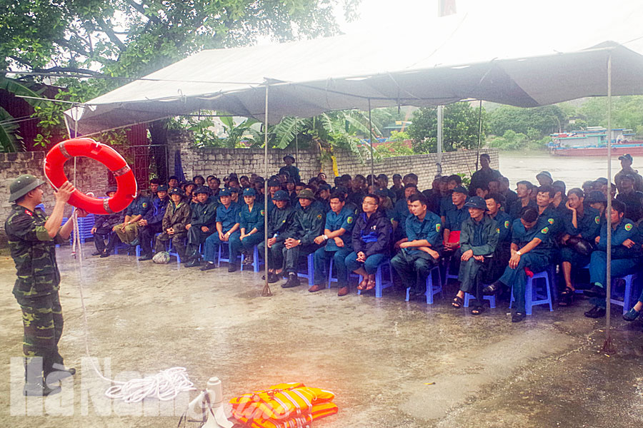 LLVT Thanh Liêm xung kích trong công tác phòng chống thiên tai tìm kiếm cứu nạn