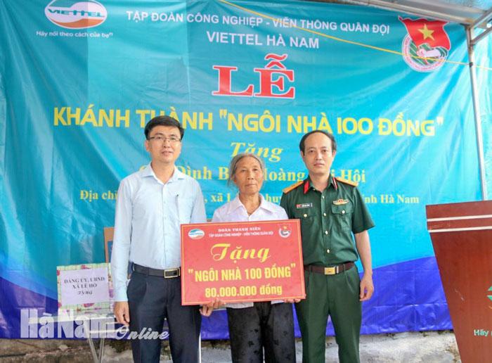 """Viettel Hà Nam khánh thành """"Ngôi nhà 100 đồng"""" tặng gia đình khó khăn tại xã Lê Hồ"""