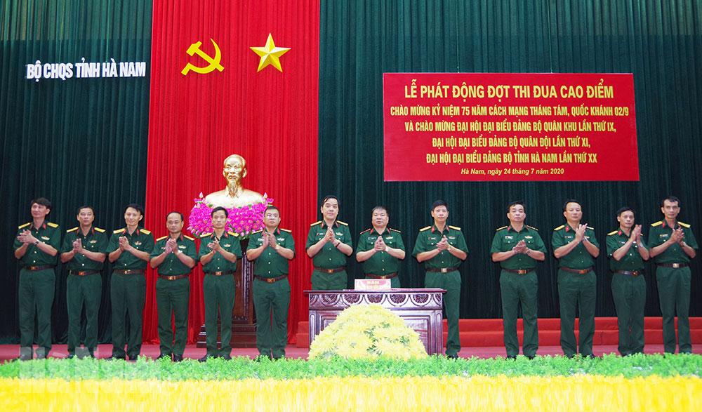 Bộ CHQS tỉnh phát động đợt thi đua cao điểm Dân chủ đoàn kết trí tuệ Quyết thắng