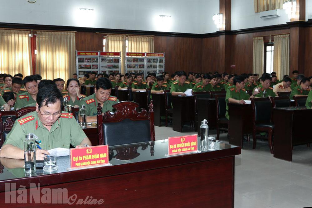 Công an Hà Nam triển khai kế hoạch mở đợt cao điểm tấn công trấn áp tội phạm