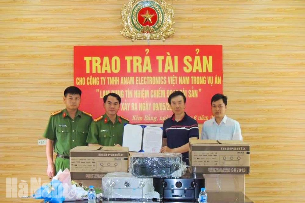 Công an Kim Bảng tăng cường bảo đảm ANTT phục vụ đại hội Đảng các cấp