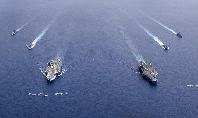 Diễn tập quân sự Mỹ thể hiện sức mạnh ở Biển Đông