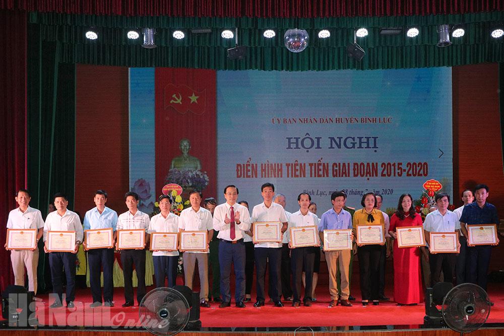 Hội nghị điển hình tiên tiến huyện Bình Lục giai đoạn 20152020