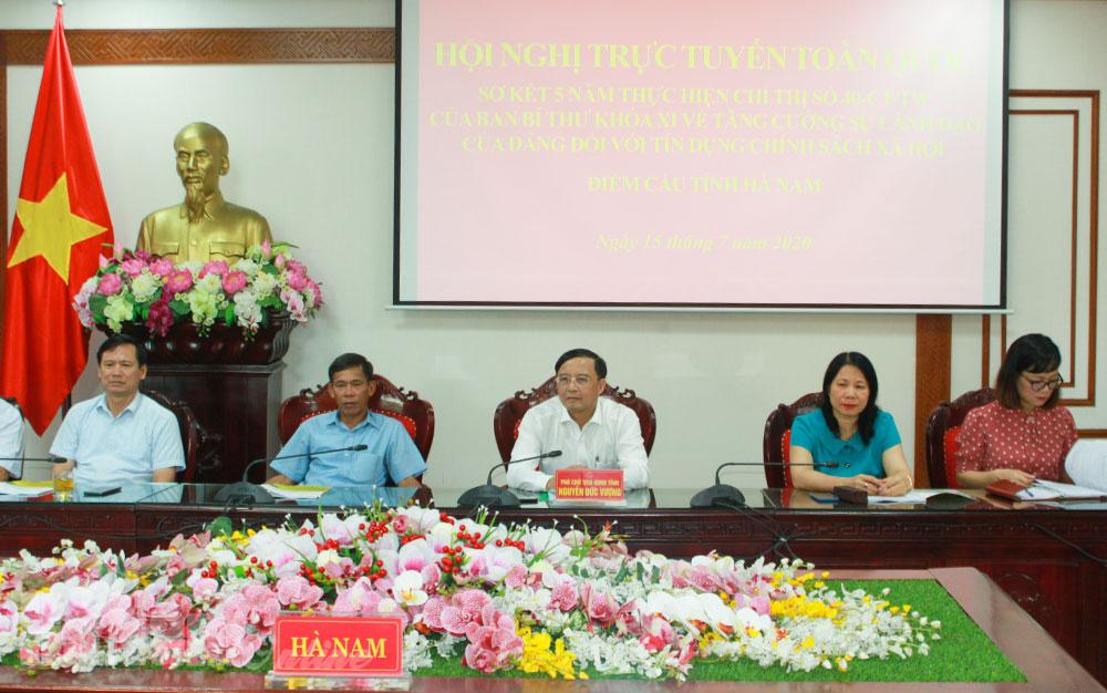 Hội nghị trực tuyến sơ kết 5 năm thực hiện Chỉ thị 40 CTTW của Ban Bí thư Trung ương Đảng về ''Tăng cường sự lãnh đạo của Đảng đối với tín dụng chính sách xã hội''