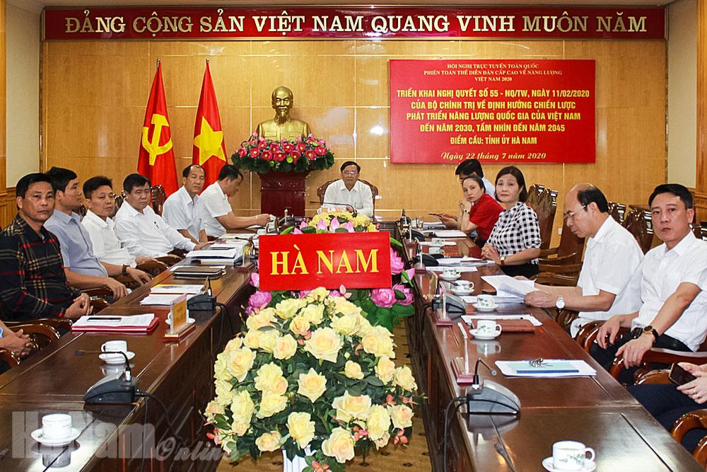 Hội nghị trực tuyến triển khai Nghị quyết số 55NQTW của Bộ Chính trị về định hướng Chiến lược phát triển năng lượng quốc gia của Việt Nam đến năm 2030 tầm nhìn đến năm 2045