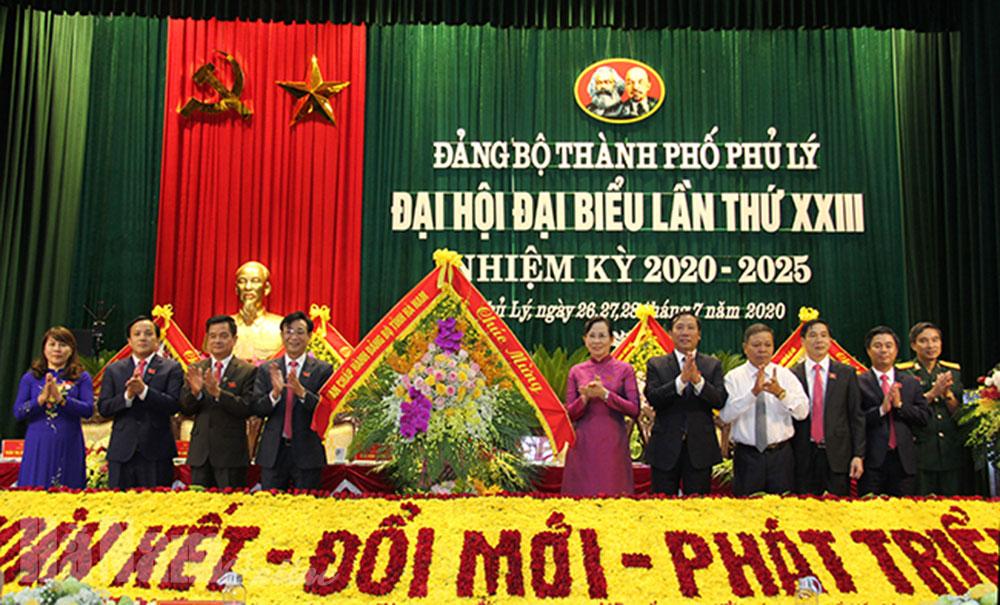 Khai mạc Đại hội đại biểu Đảng bộ thành phố Phủ Lý nhiệm kỳ 20202025