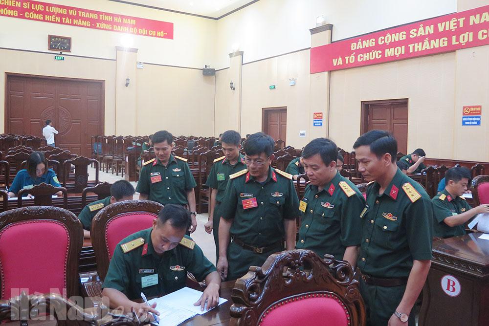 Khai mạc hội thi cán bộ giảng dạy chính trị trong LLVT tỉnh
