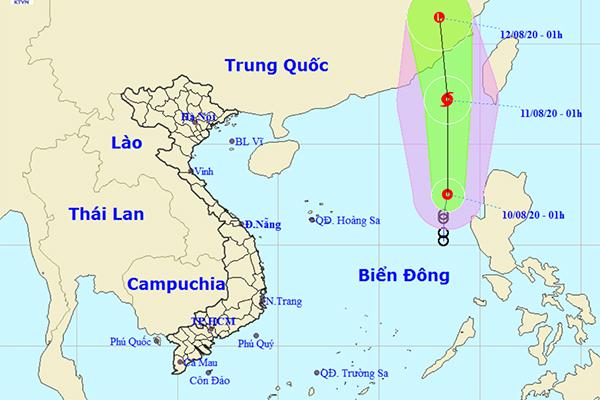 Áp thấp nhiệt đới khả năng thành bão giật cấp 10 biển động mạnh