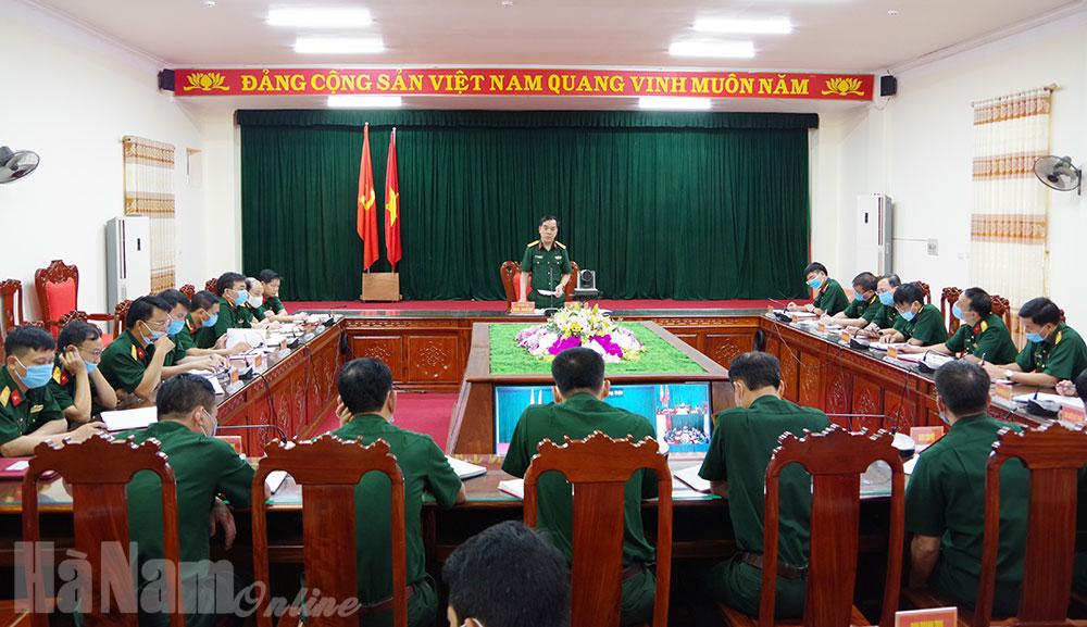 Bộ CHQS tỉnh triển khai nhiệm vụ cấp bách phòng chống dịch
