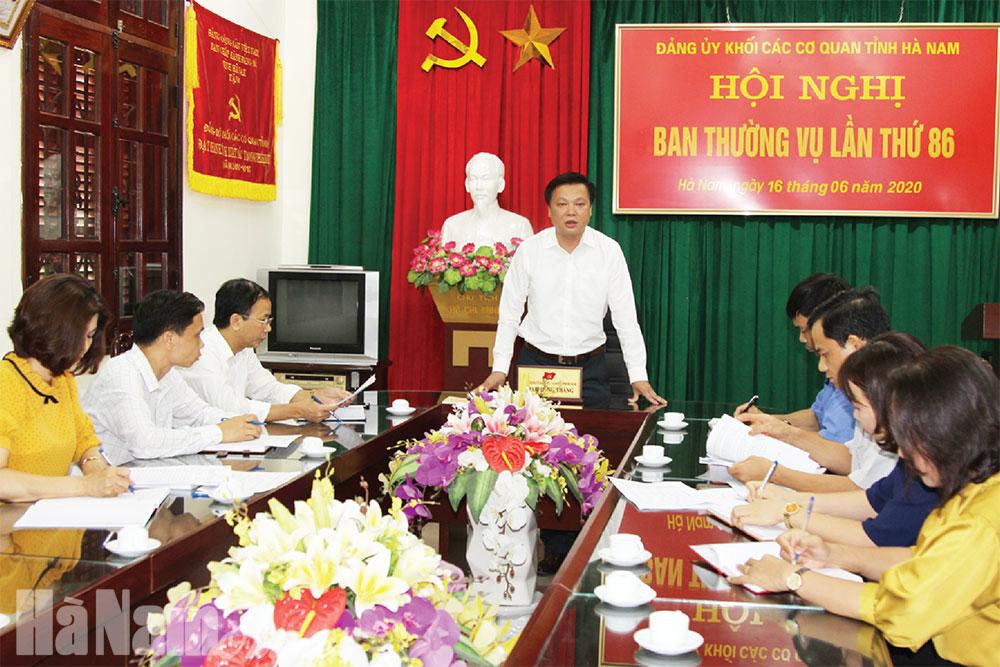 Thực hiện Chỉ thị 05 ở Đảng bộ Khối các cơ quan tỉnh