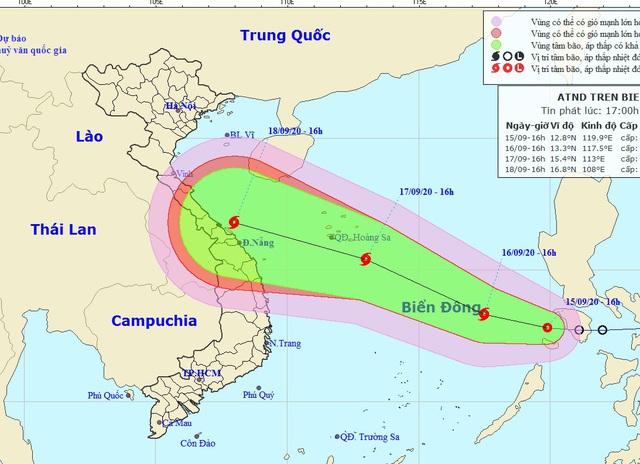 Áp thấp khả năng mạnh lên thành bão đã vào Biển Đông