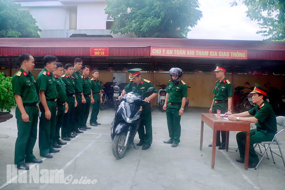 Ban CHQS huyện Thanh Liêm quản lý tốt VKTBKT