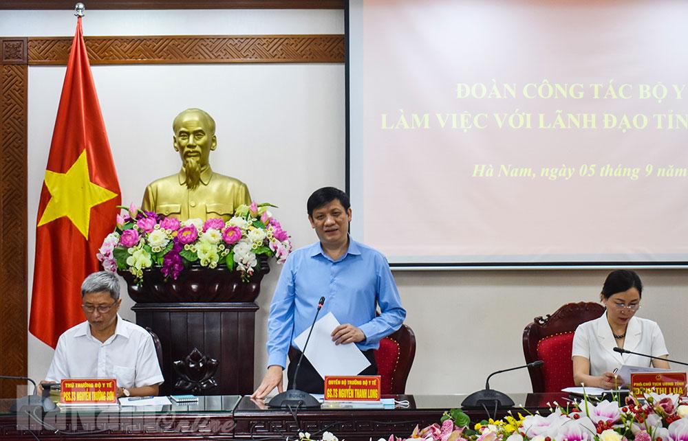 Bộ Y tế phấn đấu đưa Bệnh viện Bạch Mai và Bệnh viện Việt Đức cơ sở 2 tại Hà Nam đi vào hoạt động trong năm 2020