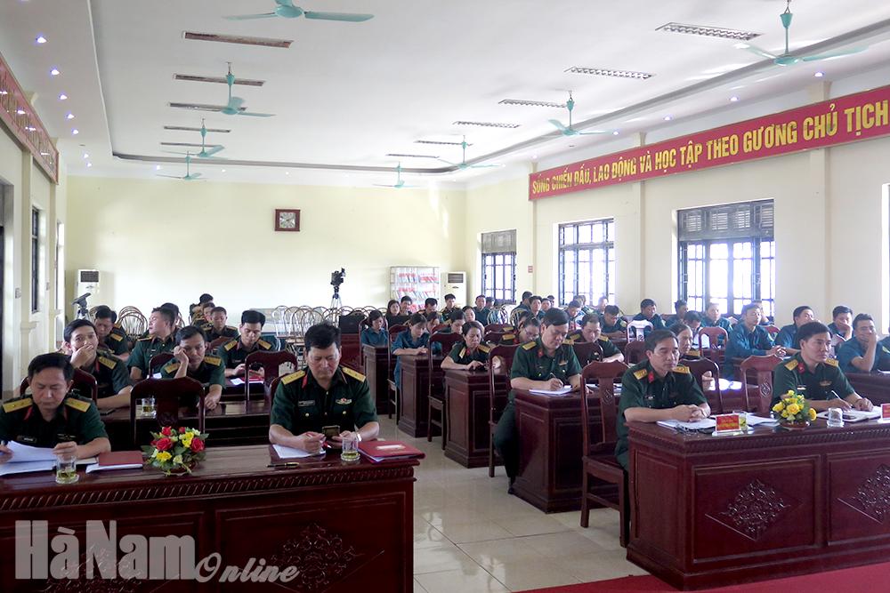 Đảng ủy Quân sự thành phố Phủ Lý sơ kết mô hình điểm về học tập và làm theo Bác giai đoạn 2017  2020