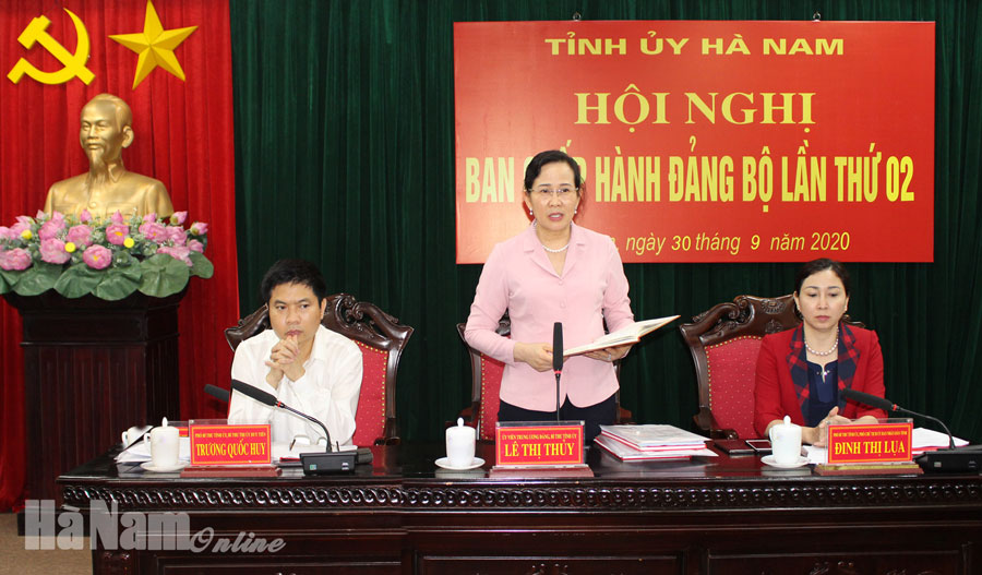 Hội nghị Ban Chấp hành Đảng bộ tỉnh lần thứ 2