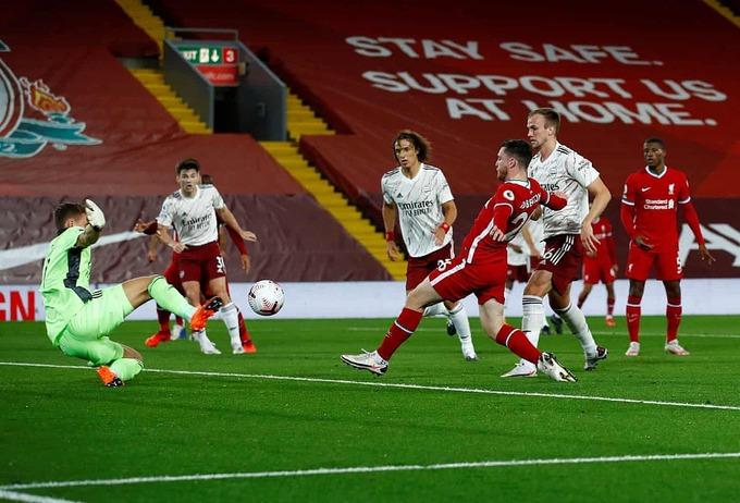 Liverpool thắng ngược Arsenal