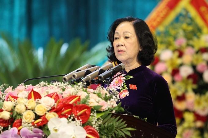 Toàn văn bài phát biểu chỉ đạo của đồng chí Trương Thị Mai Ủy viên Bộ Chính trị Bí thư Trung ương Đảng Trưởng Ban Dân vận Trung ương tại Đại hội Đảng bộ tỉnh lần thứ XX
