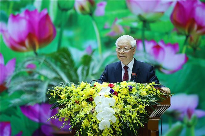 Tổng Bí thư Chủ tịch nước Nguyễn Phú Trọng Xây dựng Đảng bộ Quân đội thật sự mẫu mực thật sự trong sạch vững mạnh