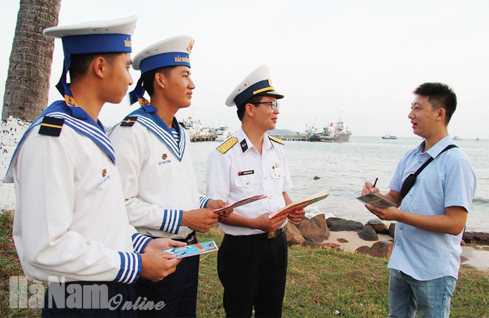 Tự hào được tác nghiệp nơi đảo xa