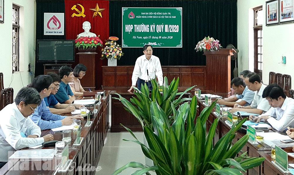 Ban đại diện HĐQT NHCSXH tỉnh sơ kết 9 tháng đầu năm