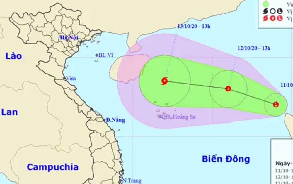 Biển Đông lại xuất hiện áp thấp nhiệt đới