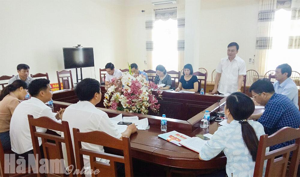 HĐND thị xã Duy Tiên chú trọng giám sát việc thực hiện Luật Xử lý vi phạm hành chính