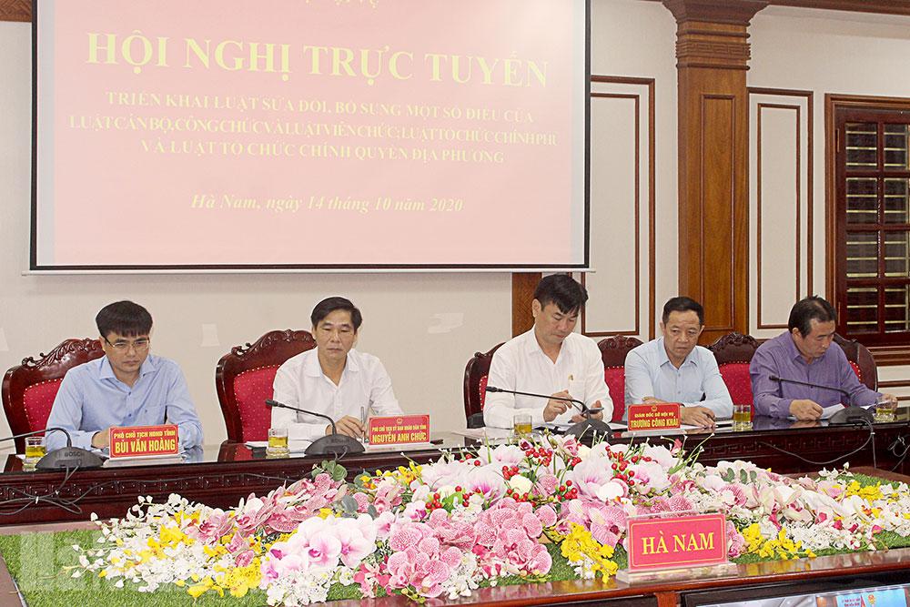 Hội nghị trực tuyến triển khai một số bộ luật quan trọng