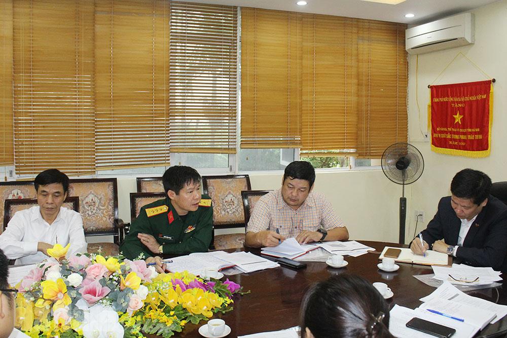 Họp Ban tổ chức địa phương phối hợp tổ chức giải Xe đạp VTV Cúp 2020 tại Hà Nam