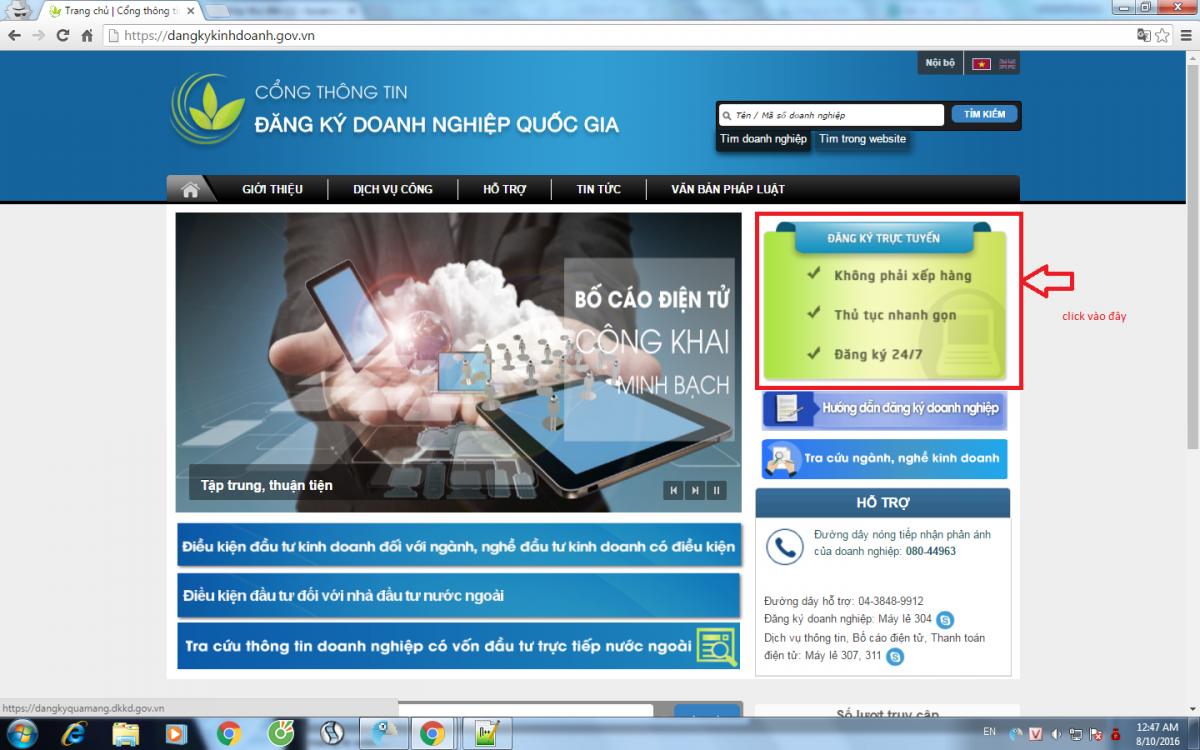 Hướng dẫn đăng ký doanh nghiệp qua mạng thông tin điện tử