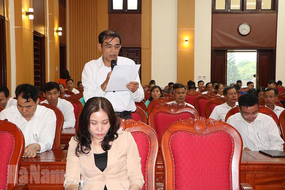 Kim Bảng đối thoại giữa người đứng đầu cấp ủy chính quyền huyện với cán bộ hội viên nông dân