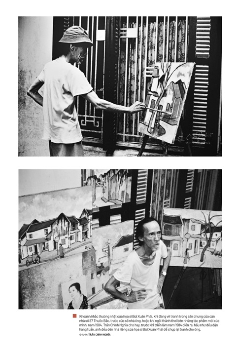 Lần đầu tiên trưng bày một phần bộ ảnh về cuộc đời và sự nghiệp danh họa Bùi Xuân Phái