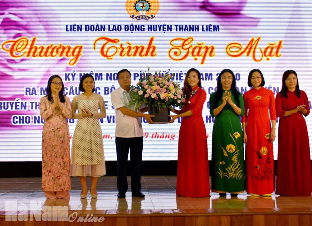 LĐLĐ huyện Thanh Liêm gặp mặt kỷ niệm ngày Phụ nữ Việt Nam 2010